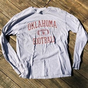 Adult Large Oklahoma Football Long Sleeve Tee